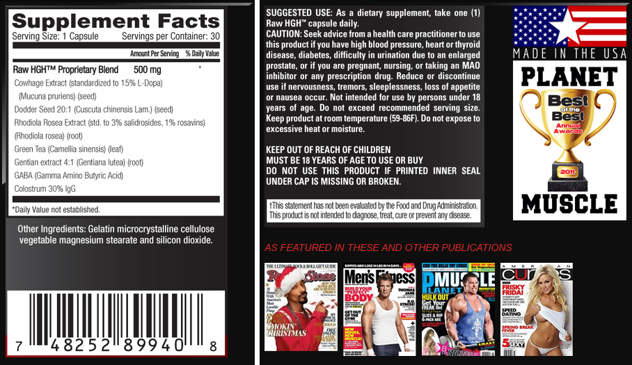 hgh supplement facts